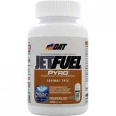 Для зниження ваги Jetfuel Pyro 120 рідких капс GAT
