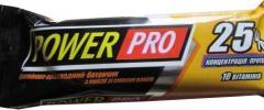 Батончик протеїновий 25% 40г ваніль Powerpro