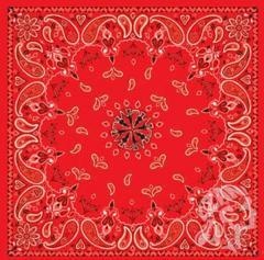 Бандана Zan Headgear Red Paisley