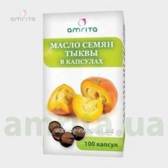 Oil of seeds of pumpkin in capsules