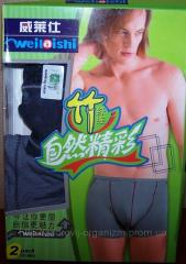 Man bamboo pants (packaging of 2 pieces) of steam