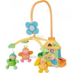 Chikko's mobile the Suspended toy on bed the
