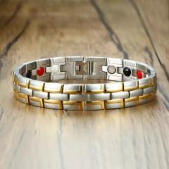 Турмалиновый магнитный браслет узкий...