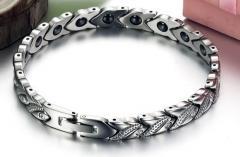 Magnetic bracelet female a lily - a silver pastes