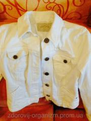 Джинсовый белый пиджак женский