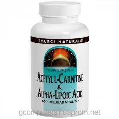 Acetyl - L - a carnitine of +ALA Source Naturals