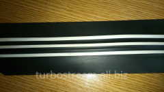 The free bar flat, width is 60 mm. with white strips.