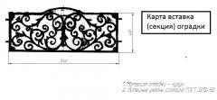 Карта-вставка (секция) ограды