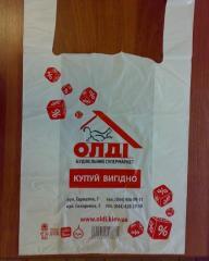 Пакет полиэтиленовый для упаковки строительных