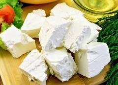 Goat cheese Feta from the producer Ukraine