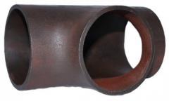 Tee of steel welded ravnoprokhodny (D1*S1) 219*7