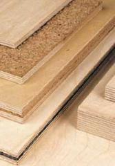 Plywood vibration-absorbing, plywood of a plate to