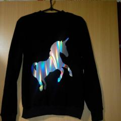 Sweatshirt with the unicorn who is poured a