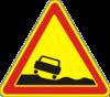 Дорожный знак Опасная обочина 1.15  ДСТУ 4100-2002