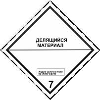 Знак Класс опасности 7, Подкласс 7.4 Наклейка /