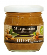 The natural almond paste made of almonds. Very