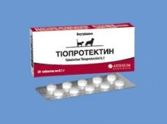 Tioprotektin of a tablet of 0,1 g No. 20