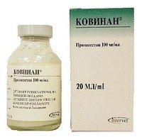 Kovinan of 20 ml hormonal preparation