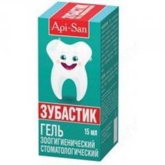 Zubastik gel zoogigiyenich. stomatol. 15 ml