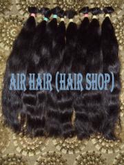 100% Волосы натуральные черные в срезе 50см
