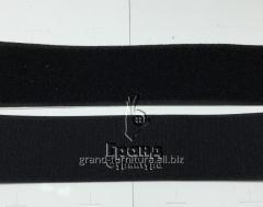 Лента контактная (велькро, липучка) 50 мм, черная