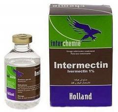 Intermektin injekts. 1% 50 ml (ivermektin,