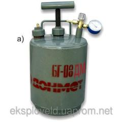 The tank for liquid BG-08DM fuel, capacity is 8 l