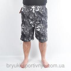 Бриджи мужские пляжные морской мотив Код Wfk 6831