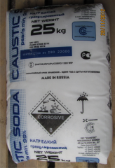 The caustic soda (Russia), Packaging - 25 to