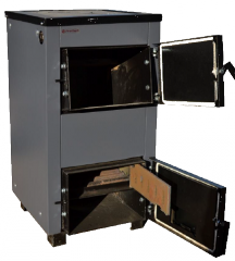 Твердотопливный котел Протех 12 кВт, с плитой
