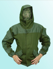 The jacket is protective, a suit a hill of