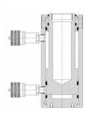 Jack (cylinder) power with hydraulic return of a