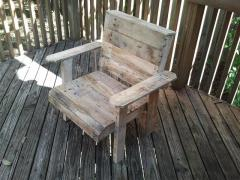 Chair from the massif of a tree