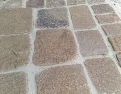 Stone blocks chipped thicknesses. 50 mm