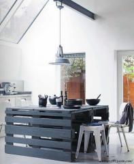 Набор кухонной мебели из натурального дерева