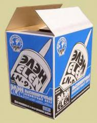 Box from the three-layered corrugated cardboard.
