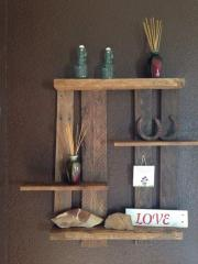 Wall shelf from a tree