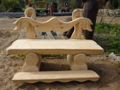 Furniture wooden of a maple