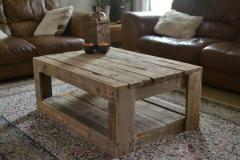 Coffee table from a tree