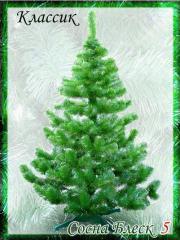 Ель зеленая с блеском Искусственная из пленки ПВХ