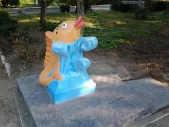 Парковая скульптура Фонтан-поилка Золотая рыбка