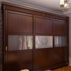 Sliding wardrobe wooden by the individual order