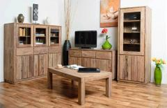 Furniture set for a drawing room of a natural tree