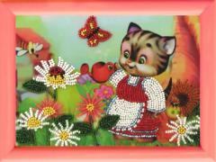 Схемы для вышивания бисером Кошечка