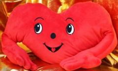 Valentine's Day cards, soft toy - a pillow -