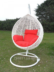 Подвесное кресло кокон Гарди белый