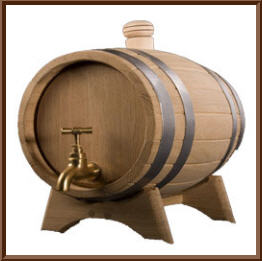 Barrels bulk oak for wine, cognac, moonshine,