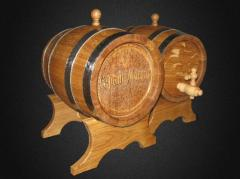 Barrel wooden with a fauce