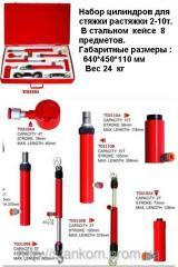 Набор гидравлических цилиндров 4-10 т для