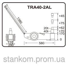 Domktrat pneumatichydraulic movable TRA40-2AL with